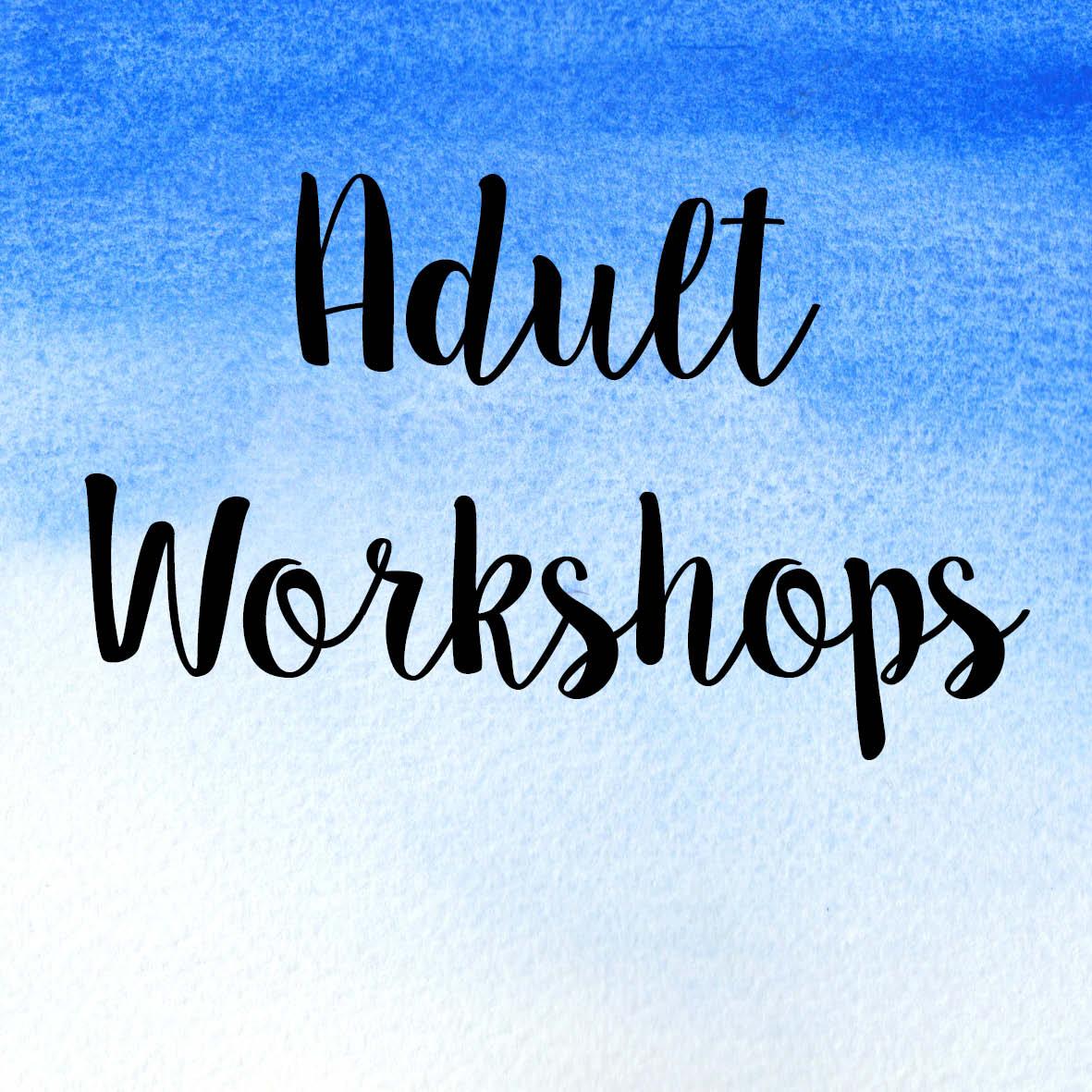 Adult Workshop Line-Up 2017