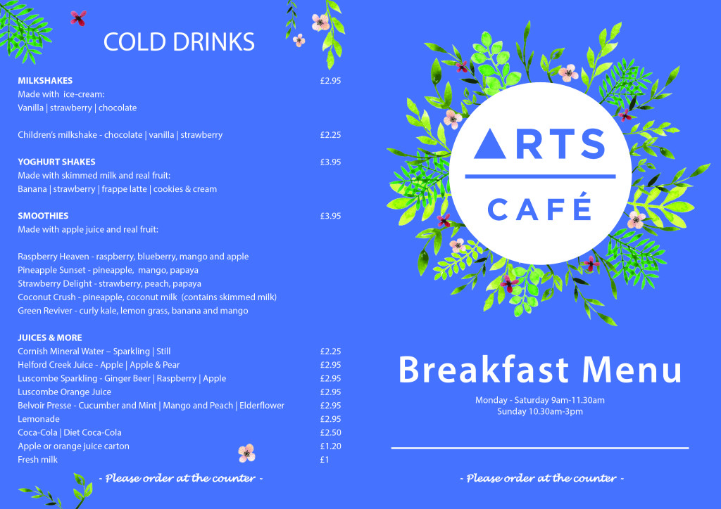 Breakfast Menu 2018 - Revamped