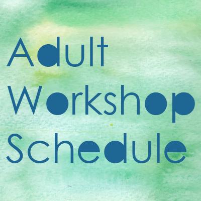Adult Workshop Line-Up 2018 / 19