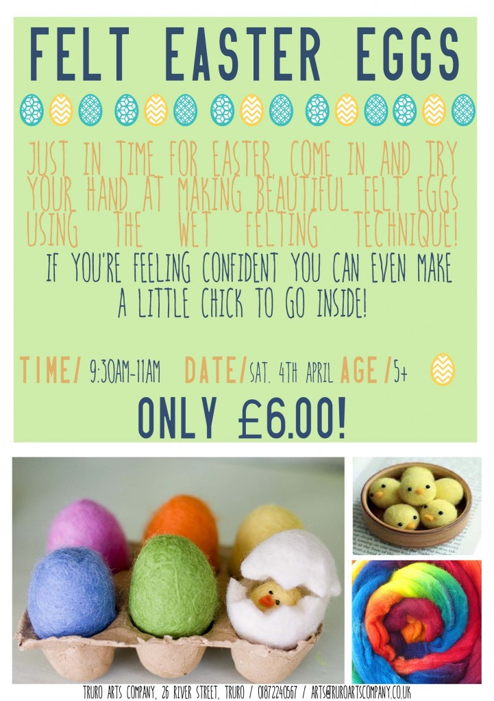 FELT easter egg flyer