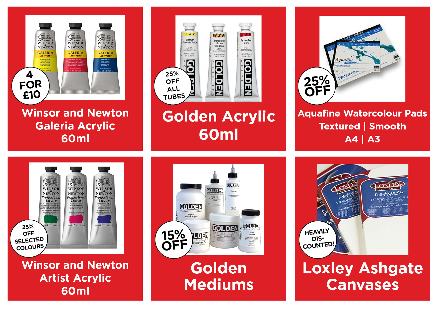 Current Promotions PAINT AND MEDIUMS Dec 172