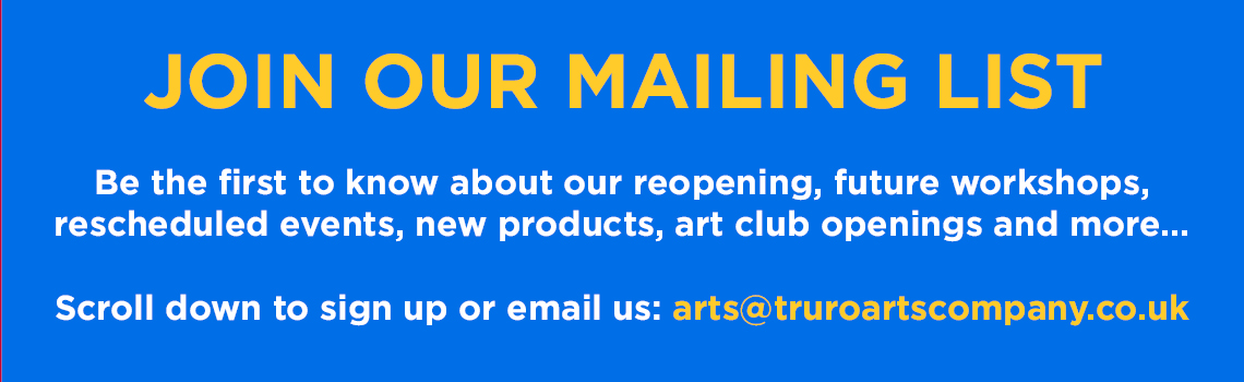 Join Our Mailing List - Turo Arts Company