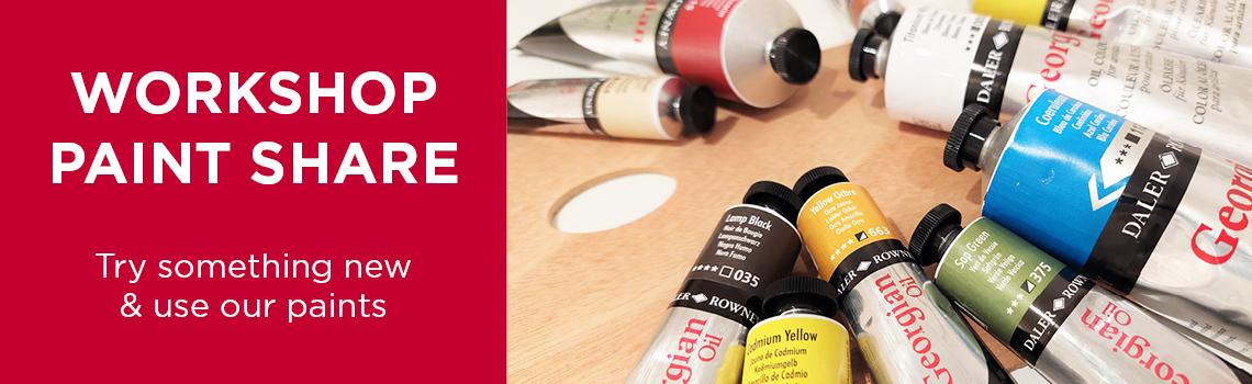 Truro Arts Workshop Paint Share