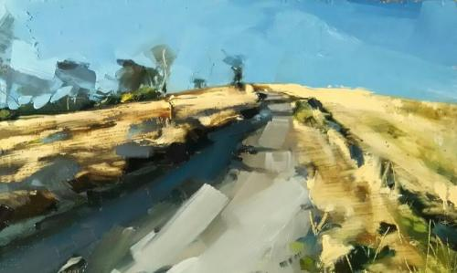 32-Cold-and-Crispy-Codden-Hill-15-x-25-cm-oil-on-board 700x419