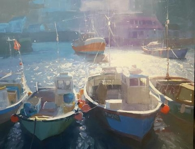 HARBOURS mevagisseyharbour 76x50sold